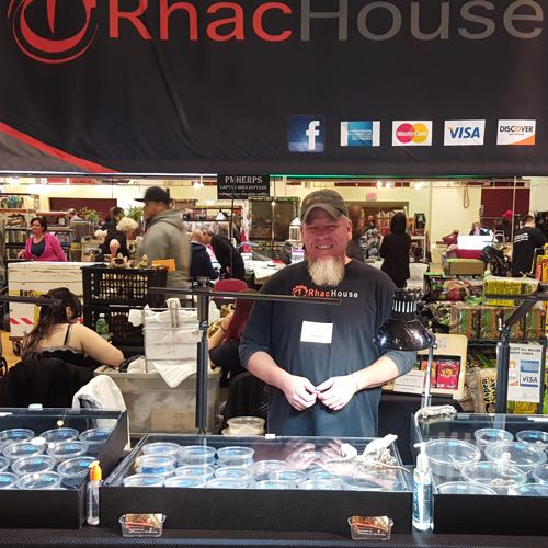 RhacHouse reptile show booth